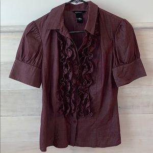Ruffled Button Up Shirt